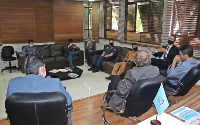 Membros do CONSEG estiveram no Paço Municipal na tarde desta quarta-feira