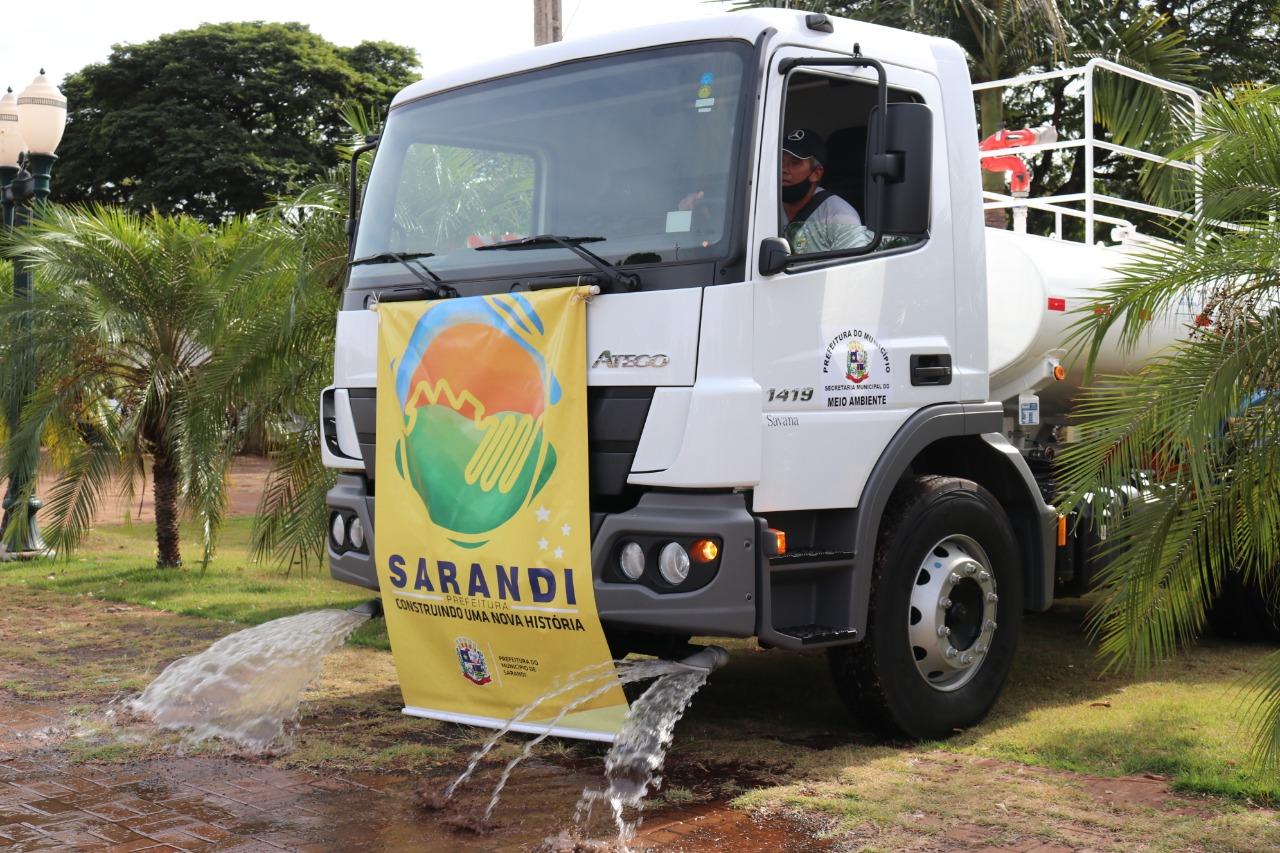 Sarandi recebe caminhão-pipa