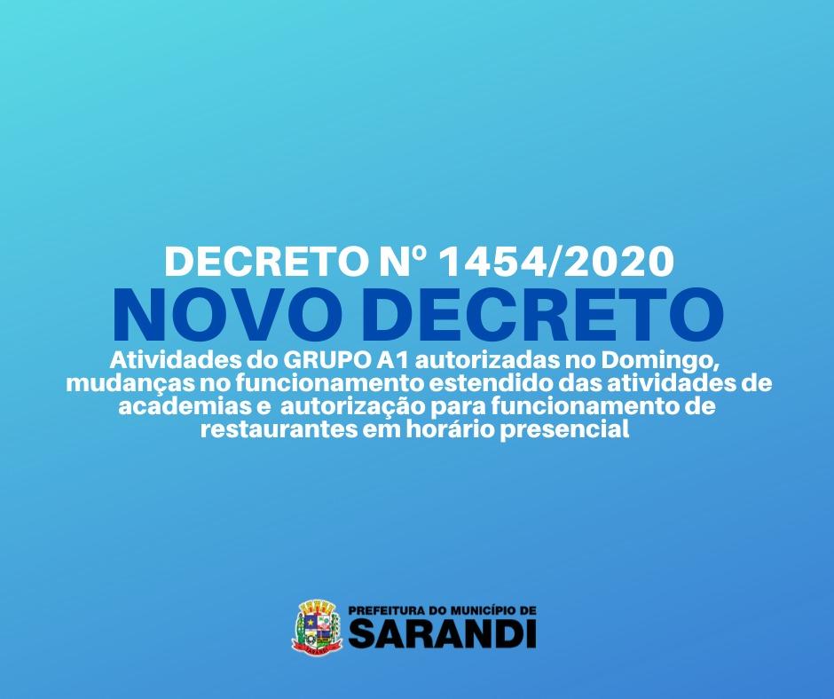 Novo Decreto da Prefeitura de Sarandi