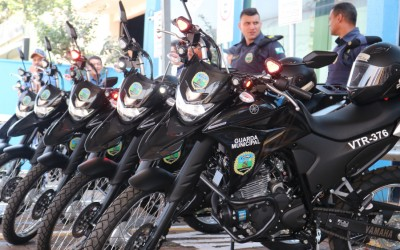 Guarda Municipal de Sarandi recebe cinco novas motos viaturas