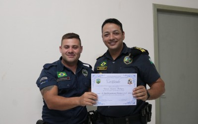 GM de Sarandi recebe certificado de Curso de Aperfeiçoamento Técnico