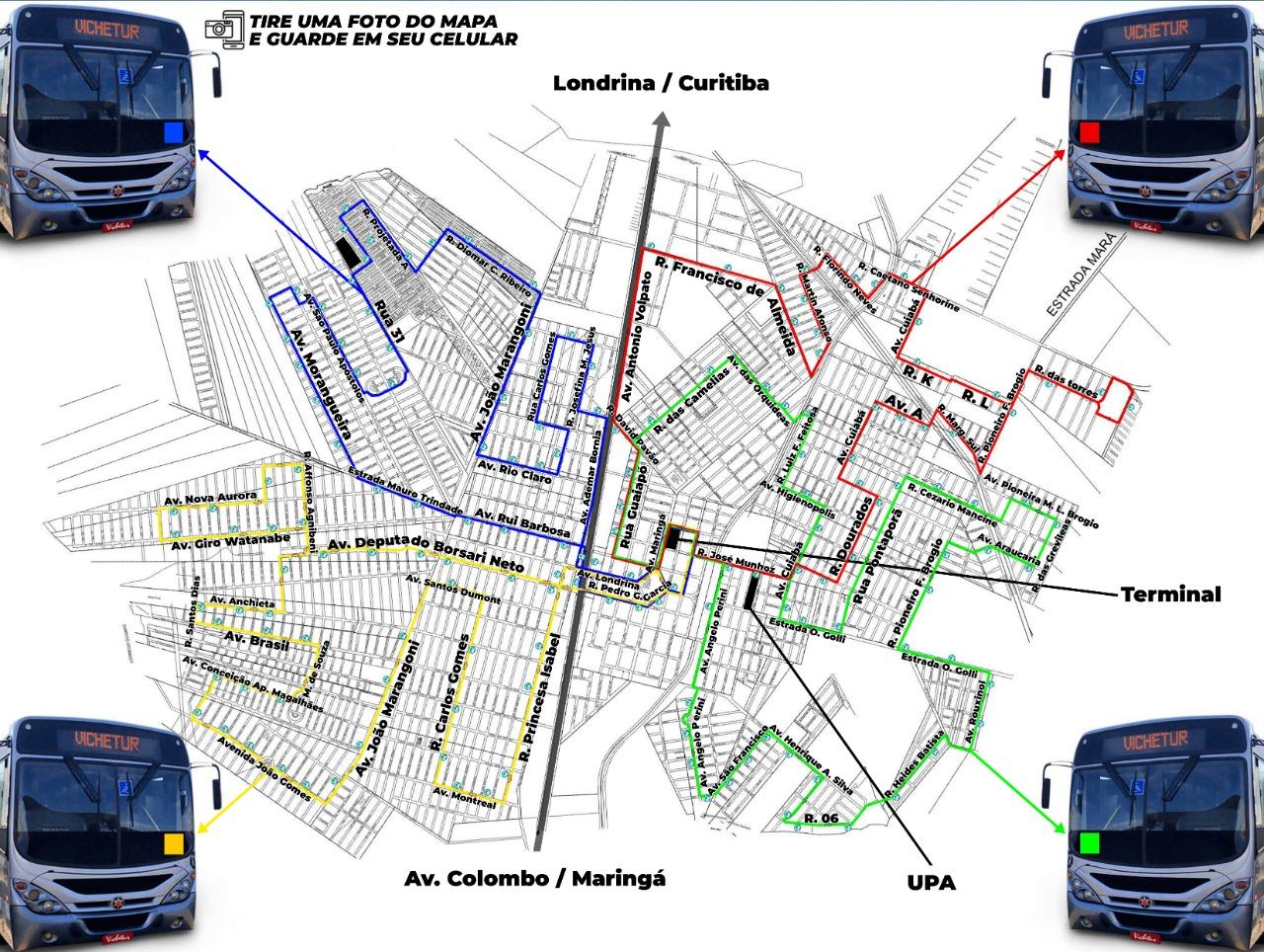 Nova empresa de transporte coletivo urbano em Sarandi apresenta frota