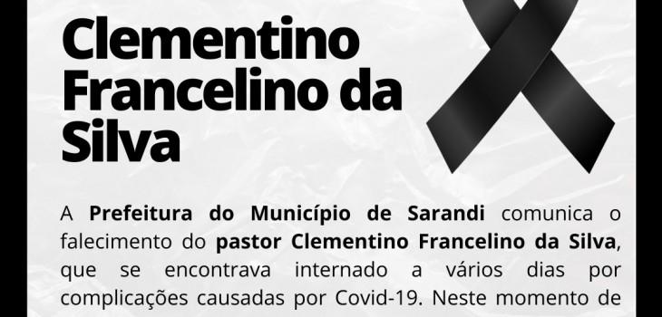 Nota de Pesar - Clementino Francelino da Silva