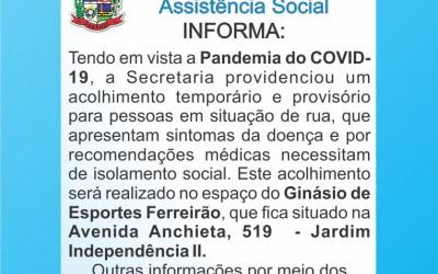Secretaria Municipal de Assistência Social Informa