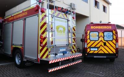 Corpo de Bombeiros recebe viaturas e equipamentos