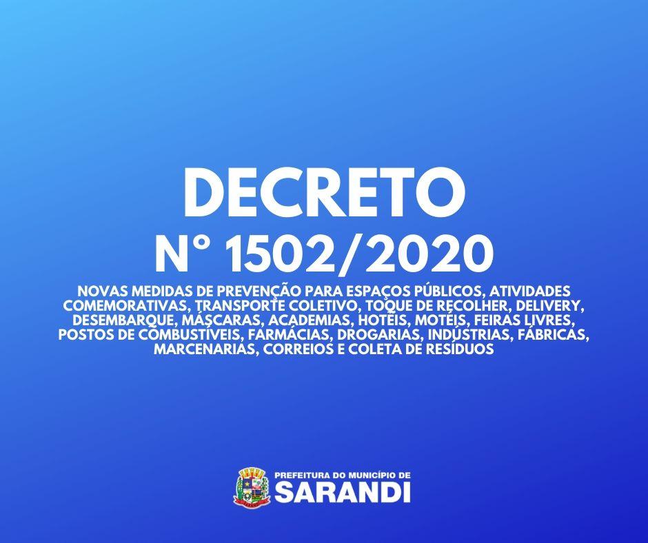 Decreto determina novas ações de prevenção em Sarandi
