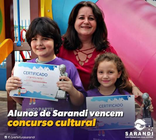 Alunos de Sarandi vencem o concurso cultural