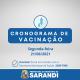 Cronograma de Vacinação contra Covid-19 - Segunda-feira - 21/06/2021