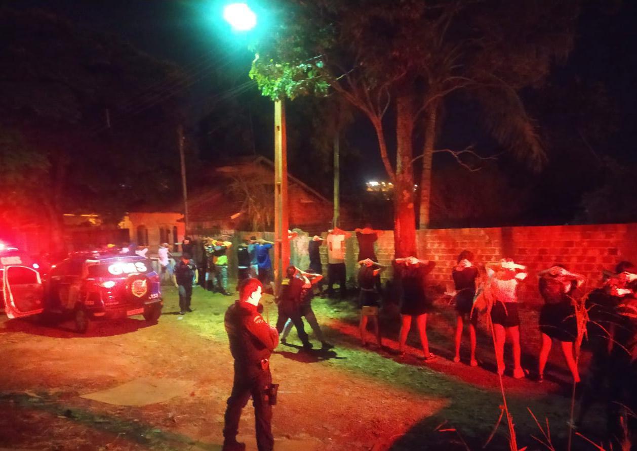Festa clandestina é encerrada pela Operação Fiscalização Integrada Covid-19 em Sarandi