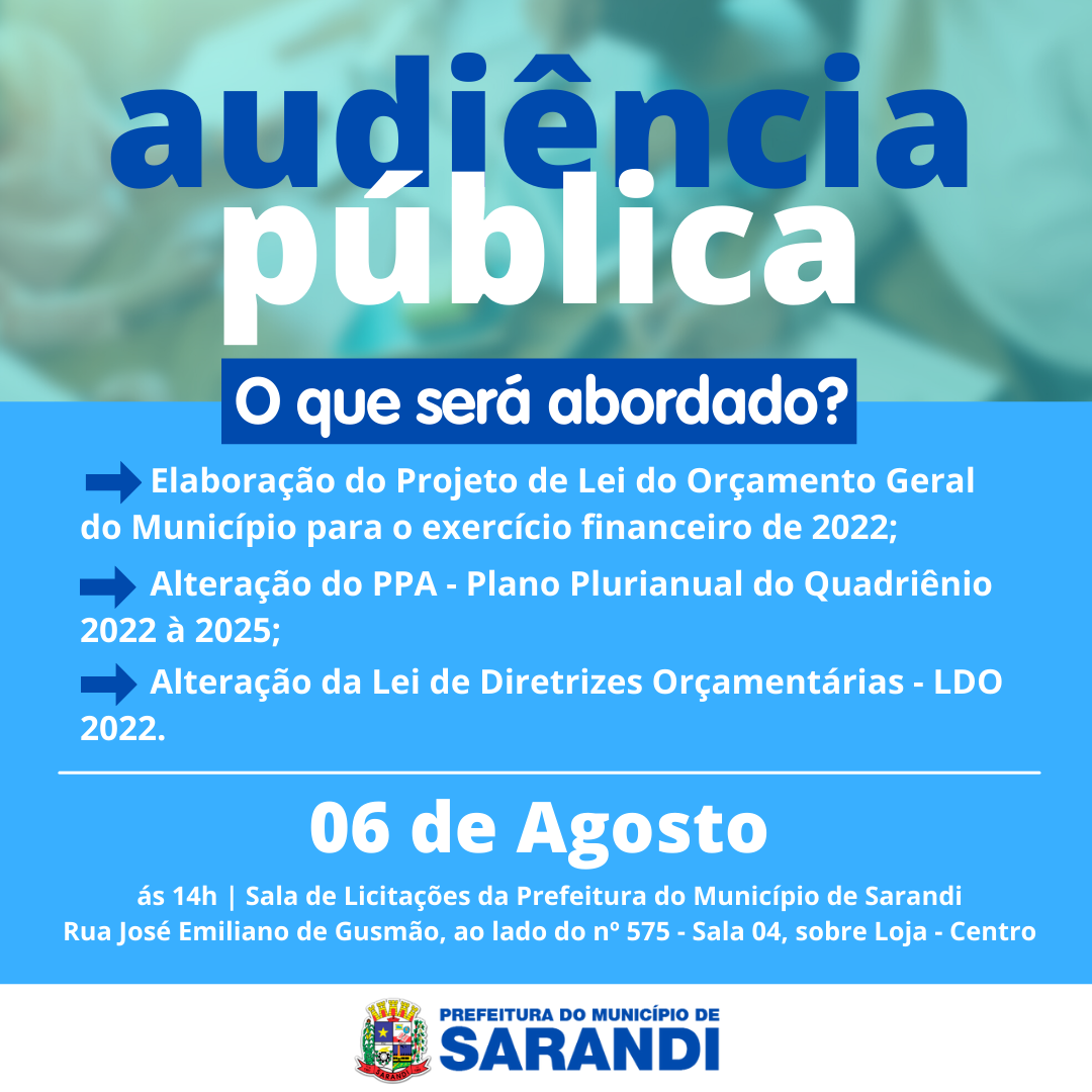 Audiência Pública - 06/08/2021