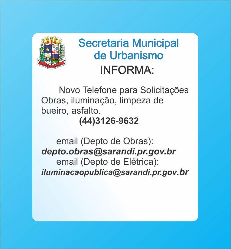 Secretaria Municipal de Urbanismo Informa
