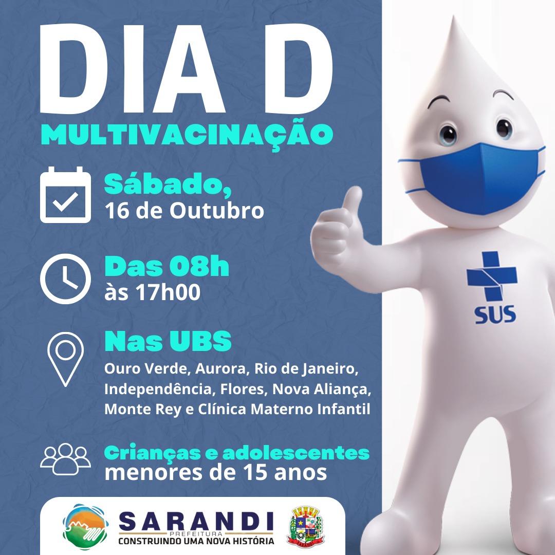 Dia D - Multivacinação para crianças e adolescentes até 15 anos